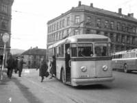 Trolleybuss ved Sørli plass
