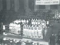 Bokseturnering i Kampen Sportshall i 1930-årene