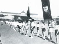 Åpning av arbeidermesterskapet på Jordal idrettsplass (1933)