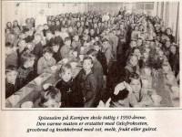 Spisesalen på Kampen skole på 1950-tallet