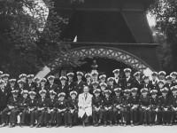 Kampen skolemusikkorps på Danmarkstur like etter krigen
