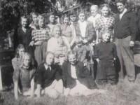 Laila med 7. klasse ved Kampen skole 1947