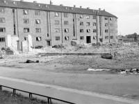 Telemarksvingen med rester av Sportshallen (1939)