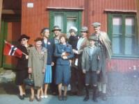 """Fra innspillingen av NRK-serien """"Grenseland"""" i Brinken 53 (1978)"""