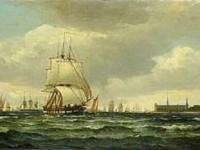 Oljemaleri fra Øresund, ca 1870