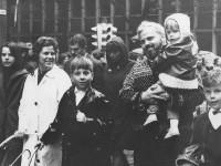 Aslaug og Ivar Nygaard i en demonstrasjon på 1970-tallet