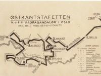 Kart over Østkantstafetten