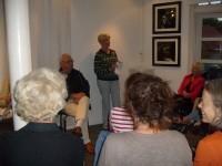 Elisabeth Damsgaard på møtet i Galleri Bastian (2009)