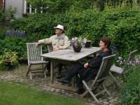 Åpen bakgård i Kampengata
