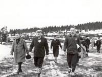 Roar Antonsen og Kong Olav under NM 1961