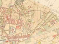 Kart over Kampen i 1900