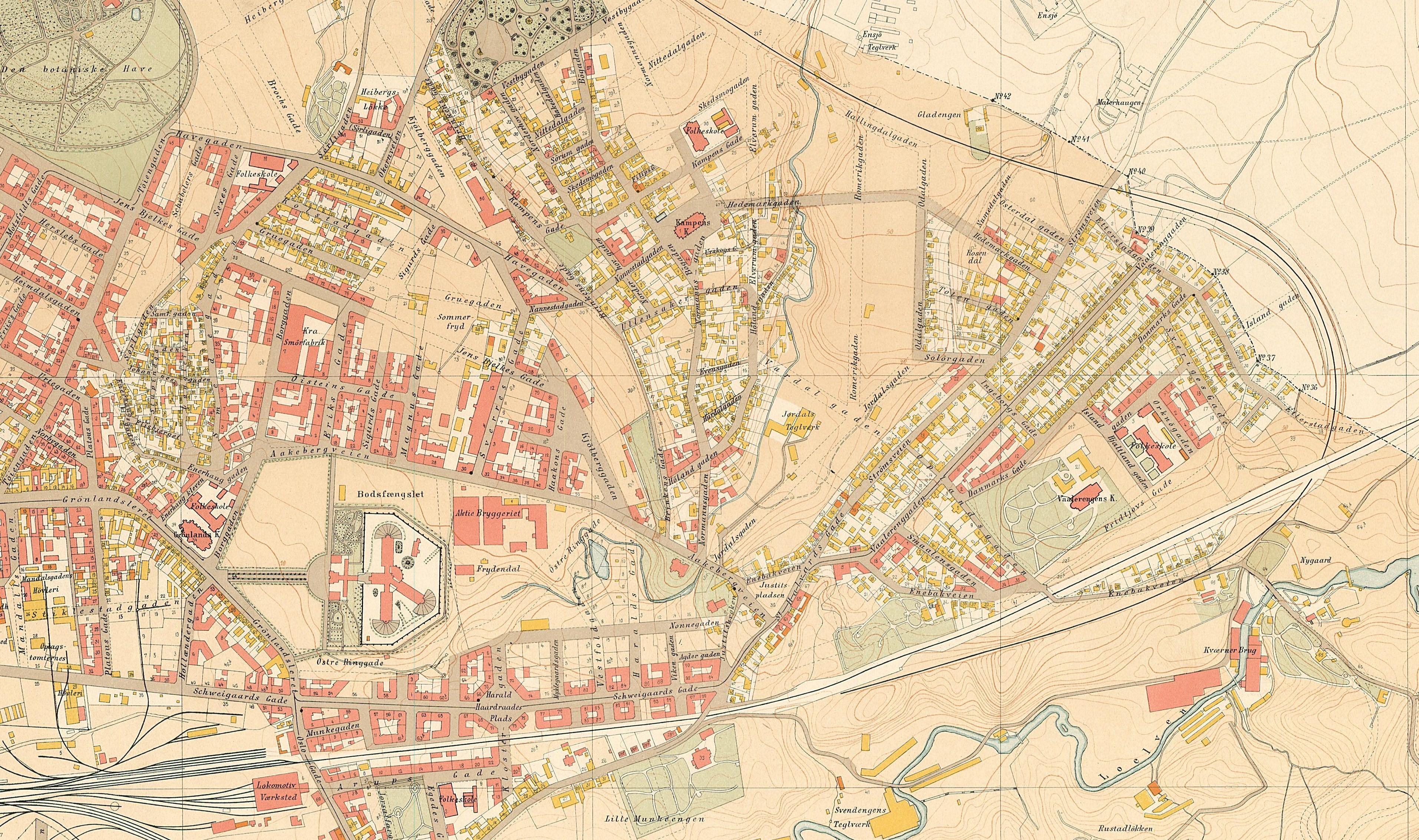 kart over tøyen Kampen Historielag kart over tøyen