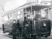 Trikkekonduktør Alfred Pedersens kolleger (1904)